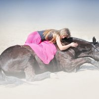 Портрет с лошадкой :: Михаил Абросимов