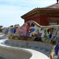 Мозаичная скамейка :: Larisa Ulanova