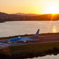 Sunset and airplane :: Татьяна Черных