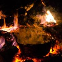 Ночь на Чёрной речке - варим грог :: Amigo …