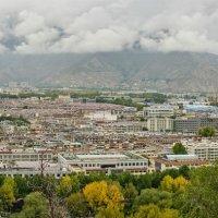 Лхаса. Тибет. Панорама. Сентябрь 2014 г. :: Ирина Токарева