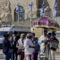 Эфиопские евреи у стены плача«Израиль, всё о религии...» :: Shmual Hava Retro