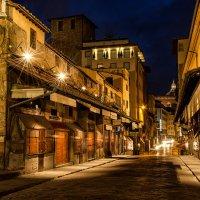 """Ночью на Ponte Vecchio (""""Золотой мост""""). Флоренция :: Владимир Горубин"""