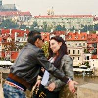 Лубочное:влюбленные в Праге :: Ирина Татьяничева