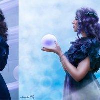 морская дева с огромной жемчужиной (до и после) :: Veronika G