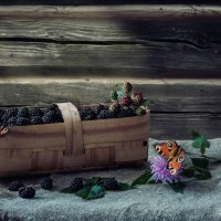 С ежевикой и бабочками :: Ирина Приходько