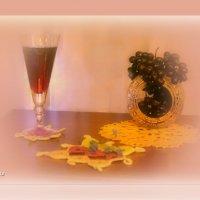 Гроздь винограда и вино :: galina tihonova