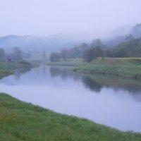 Утренний туман над р. Оять :: Елена Павлова (Смолова)