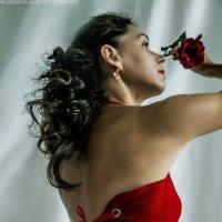 Девушка с розой. :: Ольга Милованова