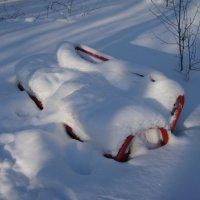 В летнем парке-зима... :: Сергей Комков