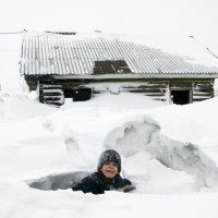 Портрет мальчика на снегу. :: Сергей Плотников