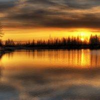 Северный закат :: Roman Chudinovich