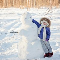 дружба со снеговиком :: Дмитрий Перепечин
