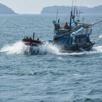 Сиамский залив. На лов кальмара :: Жанна Дек