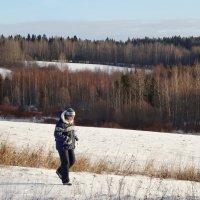 Прогулка в снежных полях :: Валерий Талашов