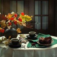 Кофе с осенним букетом :: Ирина Приходько