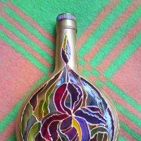 Витраж на бутылке :: Tata Wolf