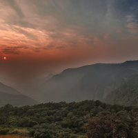 Закат в джунглях западных Гхат...Индия,Гоа... :: Александр Вивчарик