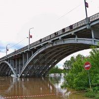 Наводнение 2014 в Бийске.Мост. :: Владимир Михайлович Дадочкин