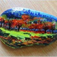 Роспись на морском камне. :: Валерия Комова