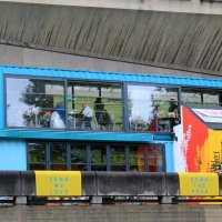 кафе/ресторан в грузовом контейнере на крыше здания :: Olga
