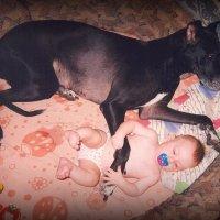 Детство - это когда твоя собака больше тебя. :: Anna Gornostayeva