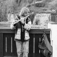 Уличный музыкант. Чешский Крумлов :: Александр Лядов