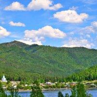 Пейзаж с видом на правый берег Енисея :: galina tihonova