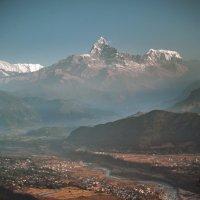 Гималайский хребет на рассвете :: Адель Гайнуллин