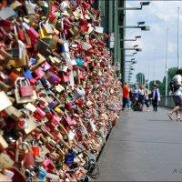 Замки любви на  мосту в Кёльне. :: Anna Gornostayeva