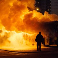 Сгорающий автобус. Москва :: alex_belkin Алексей Белкин