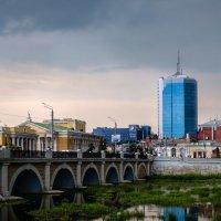 Виды Челябинска. Река Миасс, мост и др. :: Марк Э