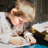 Правнук Сенька, 6 лет :: Юрий