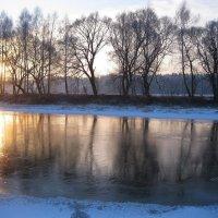 Первый тонкий лед с отражениями :: Леонид Корейба