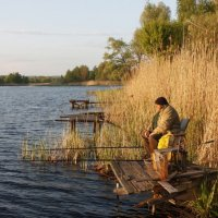 Старый рыбак :: Александр Манько