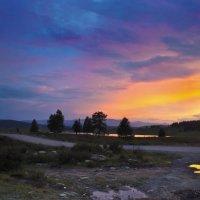 Закат над озером :: Виктор Ковчин