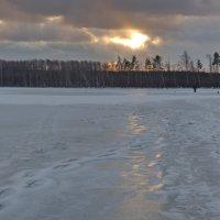 Ледяной закат. :: Ирина Нафаня