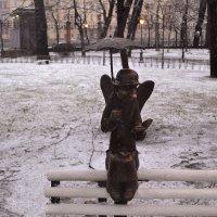 Ангел под дождём :: Наталья Левина