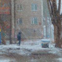 Зимний городской пейзаж :: Борис Соловьев