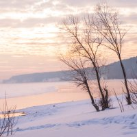 Зимний закат. :: Светлана Колесникова