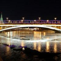 """Белый """"глаз"""" моста при полной луне :: Олег Лукьянов"""