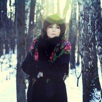 *** Анютка... зимний портрет в контровом свете *** :: Alex Lipchansky