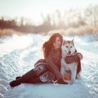Прогулка с хаски :: Татьяна Шаламанова