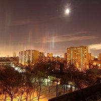 Световые столбы в Москве :: Екатерина Бессонова