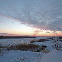 Северодвинск. Река Кудьма сразу после заката :: Владимир Шибинский