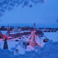 Выборг новогодний из окна. :: Марина Шубина