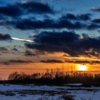 Закат в канун Старого Нового года. 01.    13.01.2015. :: Анатолий Клепешнёв