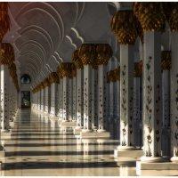 Солнце поднимается...Мечеть шейха Зайда - одна из шести самых больших мечетей в мире.(ОАЭ). :: Александр Вивчарик