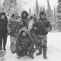 Сибирь ,тайга люди на морозе))) :: Anna