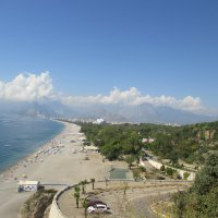 Турция Анталия Вид на пляж с обзорной площадки :: Надежда